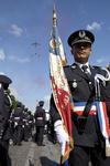 © ENSP - Défilé du 14 juillet - Commissaire et drapeau